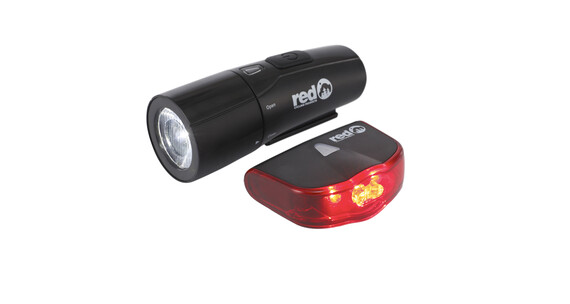 Red Cycling Products 10 Lux ECO LED Set Cykellys sæt sort